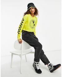 Vans Nat Geo Long Sleeve Crop Tshirt - Yellow