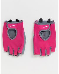 Nike Womens Fundamental - Guanti da allenamento rosa