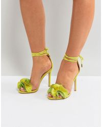 Public Desire - Sugar Lime Heeled Sandals - Lyst