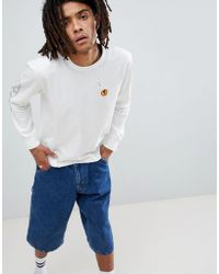 Brixton - Fang Long Sleeve T-shirt With Sleeve Print - Lyst