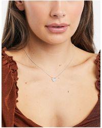 Pilgrim Серебристое Ожерелье С Прозрачным Хрусталем -серебряный - Естественный
