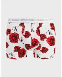 Calvin Klein Боксеры-брифы С Цветочным Принтом Ck One-белый