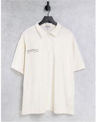 Public Desire Slogan Zip Detail Polo T-shirt Co Ord - White