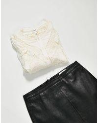 Object Frill Detail Shirt - White