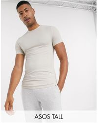 ASOS Tall Organic Muscle Fit T-shirt With Crew Neck - Multicolour