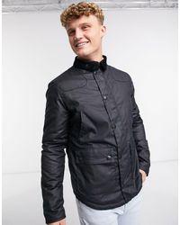 Barbour Темно-синяя Вощеная Куртка Reelin-темно-синий