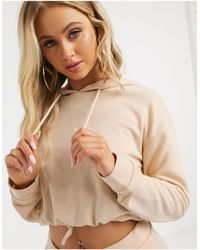 South Beach Cropped Hoodie - Natural