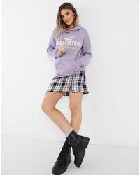 Hollister Front Logo Hoodie - Purple