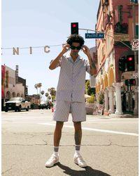 adidas Originals Сиреневые Шорты Со Шнурком И Сплошным Принтом 'summer Club'-фиолетовый - Пурпурный
