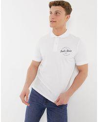 Jack & Jones Originals Round Logo Polo Top - White