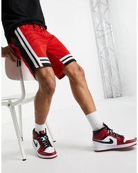 Mennace Basketball Shorts - Red