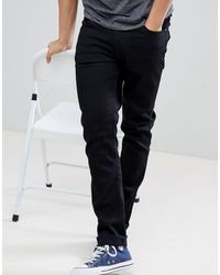 Nudie Jeans Co - Lean Dean - Smalle Jeans Met Smaltoelopende Pijpen - Zwart