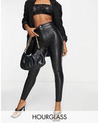 ASOS Hourglass - Pantaloni skinny a vita alta super modellanti - Nero