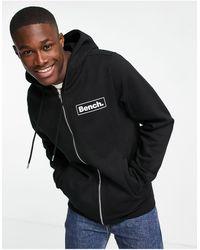 Bench Full Zip Logo Hoodie - Black