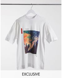 Collusion Oversized T-shirt With Print - White