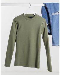 ASOS Camiseta ajustada caqui - Verde