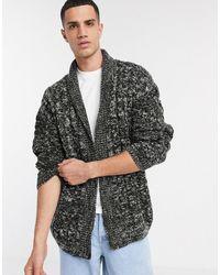 ASOS Oversized Cable Knit Cardigan - Black