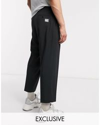 Reclaimed (vintage) Wide Leg Smart Trousers - Black