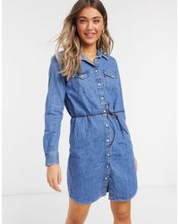 Levi's Платье-рубашка В Стиле Вестерн -голубой - Синий