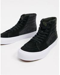Vans Черные/белые Кроссовки Sk8-hi Gore-tex-черный