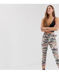 Bershka Pantalon à imprimé camouflage - Neutre