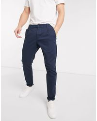 Only & Sons Slim-fit Chinos - Blauw