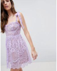 For Love & Lemons - Valentina Mini Dress - Lyst