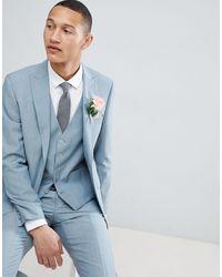 Moss Bros Moss London Skinny Wedding Suit Jacket - Green