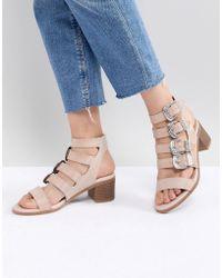 Miss Selfridge - Multi Buckle Heeled Sandals - Lyst