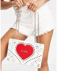 Love Moschino Белая Сумка На Плечо С Большим Логотипом-сердечком -белый