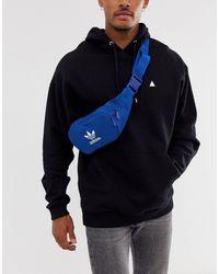 adidas Originals Синяя Сумка-кошелек На Пояс С Логотипом -синий