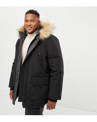 New Look Plus Parka Jacket In Black