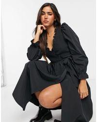 & Other Stories - Smocked Wrap Midi Dress - Lyst