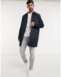New Look – Einreihiger Trenchcoat - Blau