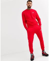 Nike Club Cuffed sweatpants - Red
