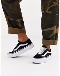 Vans Old Skool Platform In Black