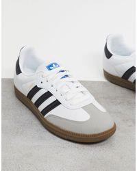 adidas Originals Бело-черные Кроссовки Samba Rose-белый