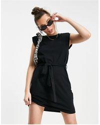 Pimkie Черное Трикотажное Платье-футболка Без Рукавов -черный Цвет