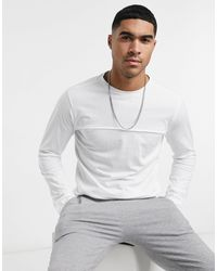 Another Influence Raw Edge Long Sleeve Top - White