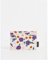 Monki Cia - porte-cartes en polyester recyclé fleuri - Multicolore