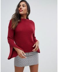 Y.A.S Yas Knitted Sweater - Red