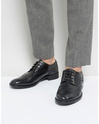 Frank Wright - Brogues In Black Leather - Lyst