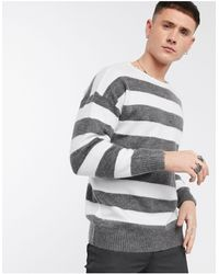 ASOS Oversized Sweater With Scoop Neck - Gray