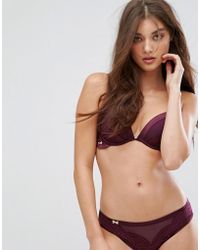 Ted Baker - B By Satin Cuff Lace High Apex Bra - Lyst