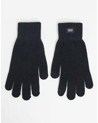 Jack & Jones Черные Перчатки -черный
