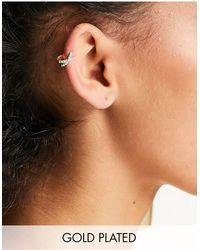 Kingsley Ryan Pave Crossed Ear Cuff - Metallic