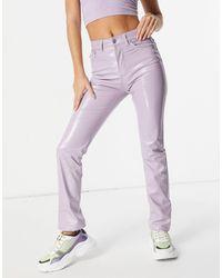 Fiorucci Jean skinny effet vinyle - Lilas - Violet