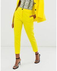 ASOS Pop Slim Suit Trousers - Yellow