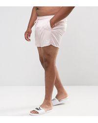 PUMA - Plus Retro Swim Shorts In Pink Exclusive To Asos 57659601 - Lyst