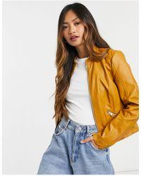 Vero Moda Коричневая Приталенная Куртка Из Искусственной Кожи -коричневый